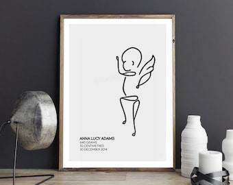 Custom Angel Baby Prints
