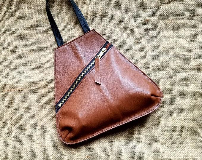Wristlet Drop in Light Brown Leather