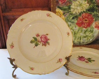 Victoria by Syracuse Dinner Plate, Rose Bud, Cottage Chic Dinnerware, Mother's Day Dinnerware, Romantic China, 1950's Dinner Plate