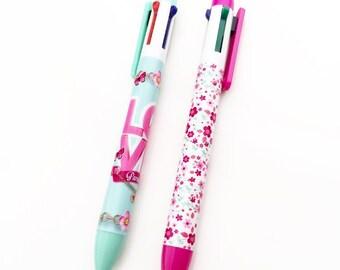Flower Power Multi Colored Pen Set