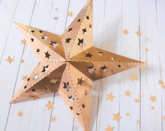 DIY Paper Lanterns, 3D Paper Stars, Baby Shower Decor, Wedding Lanterns, Paper Decor, Chinese Lantern