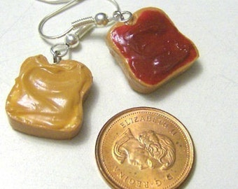 Peanut Butter And Jelly Earrings