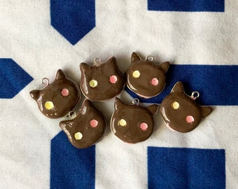 Cookie Cat Clay Charm