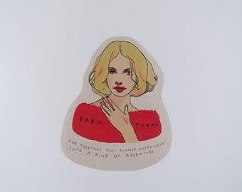 Paris, Texas sticker