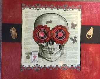 Bibliophilist Sugar Skull Art