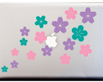 CHERRY BLOSSOM Flowers Decal Set of 16 Stickers Car Decal Vinyl Decals Japanese