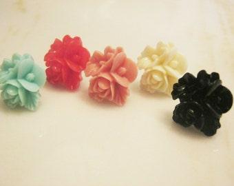 Flower Stud Earrings - Pick a Color