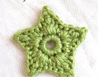 Small and Large Stars Applique Crochet Pattern, Crochet Star Pattern for Intermediates