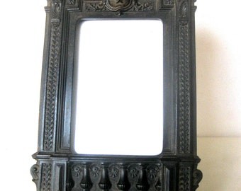 Antique Gutta Percha Photo or Picture  Frame