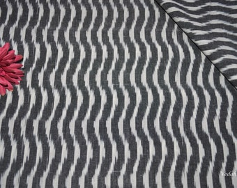Optical illusion design unique Ikat fabric Homespun fabric by the yard