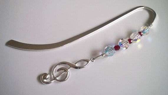 Music Teacher, Music Bookmark, Music Note Treble Clef, Music Lover Gift Idea, Piano Gifts