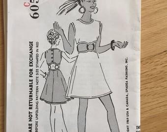 Vintage Misses Bracelet Dress Spadea Sewing Pattern 60529 Size 10
