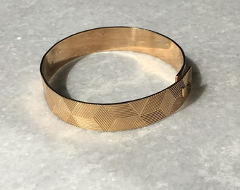 Art Deco Bracelet  with geometric pattern
