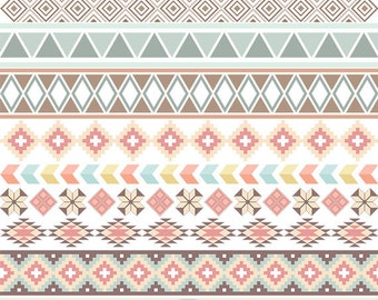 Tribal Borders Clipart Digital Borders Clip Art Native American Borders Ethnic Digital Scrapbooking Aztec Wedding Invitations Text Dividers
