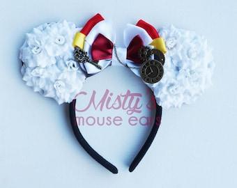 Inspired White Rabbit from Alice in Wonderland Rose Mouse Ears