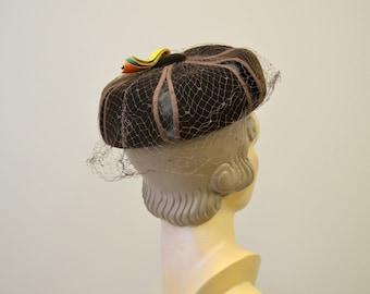 1950s Mark III Brown Velvet Hat
