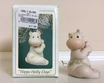 "Precious Moments ""Hippo Holly Days"" figurine #520403 Enesco."
