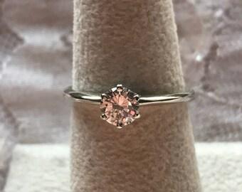 Diamond Engagement Ring 0.60 Carat 14K White Gold Setting/Classic Diamond Solitaire