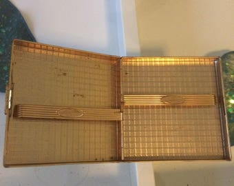 Vintage cigarette case gold