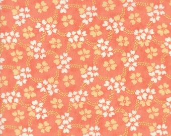 Ella and Ollie - Daisy Rings in Apricot: sku 20302-12 cotton quilting fabric by Fig Tree and Co. for Moda Fabrics