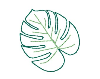 Feltie Embroidery Design - Objects - Embroidery Design - Fern Leaf