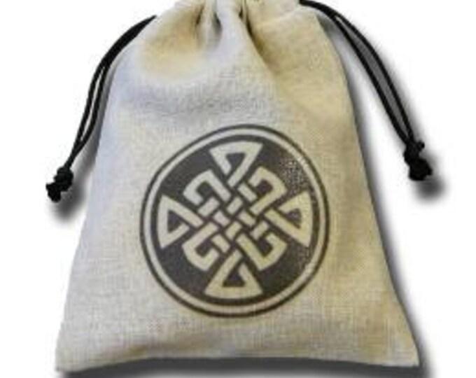 Dice Accessories: Celtic Linen Dice Bag - Q-Workshop