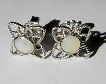 Silver Filigree Opal Earrings, Filigree Stud Earrings, Handmade Filigree Earrings, Opal Studs, Carnelian Studs, Onyx Studs, Made to Order