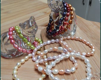 Your Choice! Genuine Pearl Bracelets in Pastel or Fashion Colors with Awareness Charms