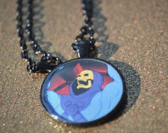 Skeletor Necklace Pendant with Chain Masters Of The Universe He-Man She-Ra MOTU Nerdy Geekery