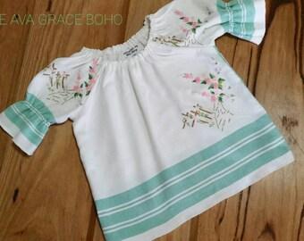 Handmade Boho smock style toddlers top/dress size 3