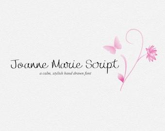 Digital font - Script Font - Calligraphy font - Joanne Marie Script font - Wedding font - Can be used for a photography logo Monogram