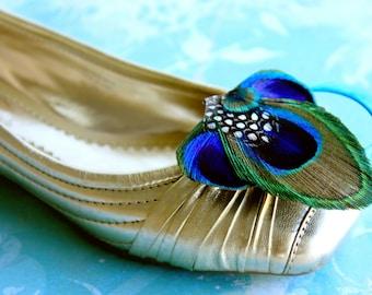 ELSIE Peacock Shoe Clip, Couture Wedding