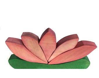 Lotus Block Wood Stacker