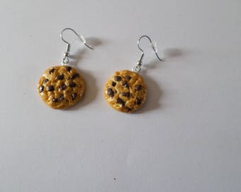 polymer clay cookies earrings