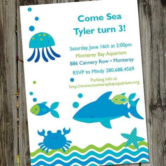 fish birthday invitation fish birthday party printable