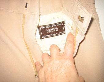 1970's Levi's STA PREST Action Slacks Tailored For Men
