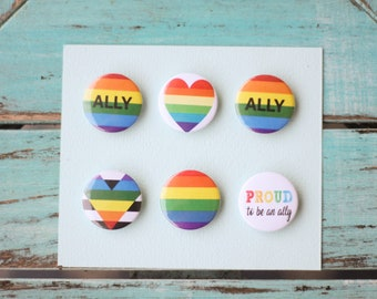 Ally pride pins! A total of 6 pins, show ur pride today.