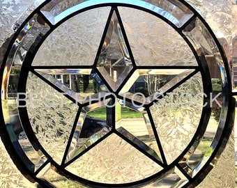 Stained Glass Star Background Photo Stock | Digital Image | Business Promotion