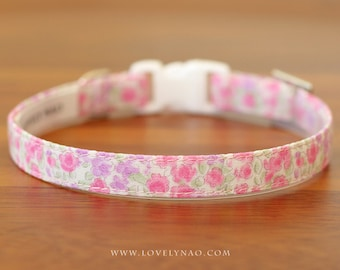 Tiny Flower Cat Collar –  Pink