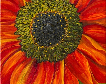 Setting Sunflower. Original Painting