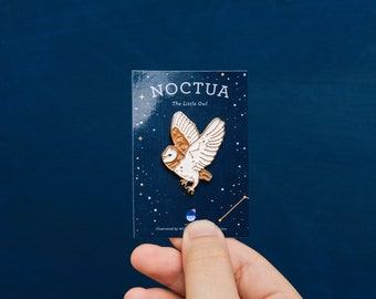 Noctua: The Little Owl Constellation Enamel Pin