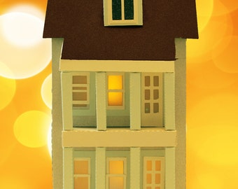3D SVG Town house svg dxf png