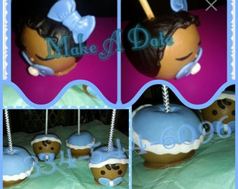 baby candy apples baby shower face hair