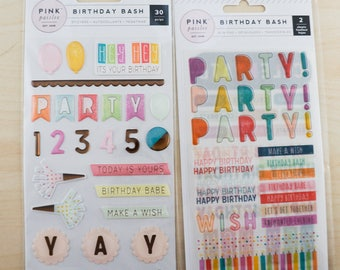 Pink Paislee Birthday Party Bundle - A Coordinating Collection of 2 items - one low price