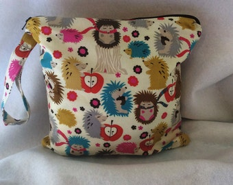 Hedgehog Wet Bag//Bikini Bag//Sports bag//Four sizes