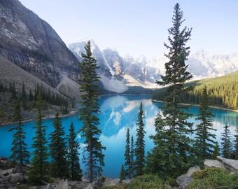 Moraine Lake Photo, Moraine Lake Canvas, Moraine Lake Print, Banff photo, Banff Canvas, Canada photography, Lake photo, Lake Canvas