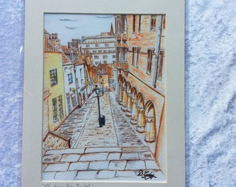 Bristol's Famous Christmas Steps Giclee Print