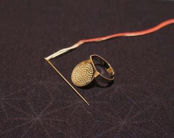 Sashiko Needles and a thimble