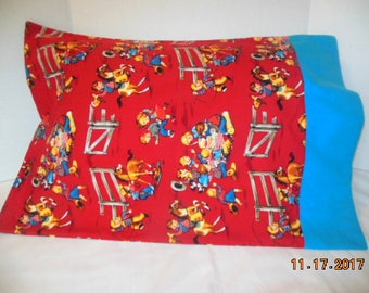 Cowboys and Cowgirls Flannel Pillowcase