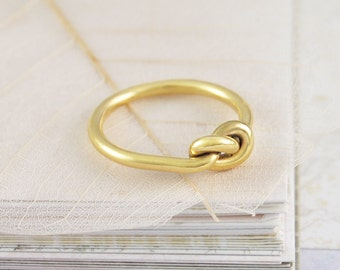 Gold Ring, Knot Ring, Infinity Ring, Gifts For Girlfriend, Thin Ring, Simple Ring, Eternity Ring, Cute Ring, Friendship Knot Ring, Gifts